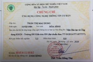 THI CHỨNG CHỈ TIN HỌC THEO THÔNG TƯ 03/2014/TT-BTTTT